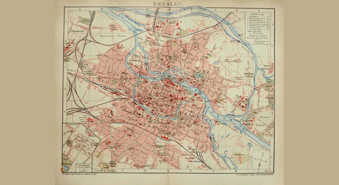 vintage map of Breslau